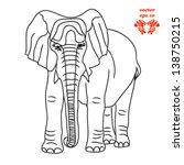 tattoo elephant vector | Shutterstock .eps vector #138750215