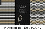 embroidery satin stitch... | Shutterstock .eps vector #1387507742