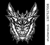 devil inside your head  design... | Shutterstock . vector #1387527008