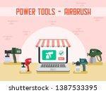 power tools for building repair ... | Shutterstock .eps vector #1387533395