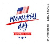 memorial day vector... | Shutterstock .eps vector #1387556438