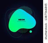 Modern Abstract Liquid Neon...