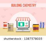 building chemistry online shop... | Shutterstock .eps vector #1387578035