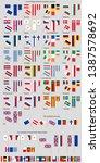 a set of flags eu countries.... | Shutterstock .eps vector #1387578692