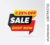 vector sale banner template... | Shutterstock .eps vector #1387592732