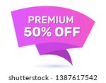 vector cartoon bright sale... | Shutterstock .eps vector #1387617542
