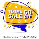 vector trendy graphic yellow... | Shutterstock .eps vector #1387617545