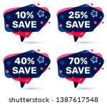 vector set of sale badge with... | Shutterstock .eps vector #1387617548
