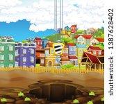 cartoon scene of construction... | Shutterstock . vector #1387628402