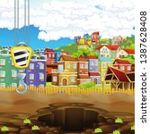 cartoon scene of construction... | Shutterstock . vector #1387628408