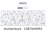 concept of taking profit.... | Shutterstock .eps vector #1387644092