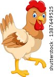 cute cartoon hen isolated on...   Shutterstock . vector #1387649525