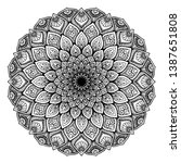 mandalas round for coloring ... | Shutterstock .eps vector #1387651808