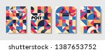 set of retro covers. collection ... | Shutterstock .eps vector #1387653752