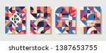 set of retro covers. collection ... | Shutterstock .eps vector #1387653755