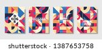 set of retro covers. collection ... | Shutterstock .eps vector #1387653758