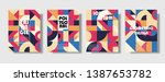 set of retro covers. collection ... | Shutterstock .eps vector #1387653782