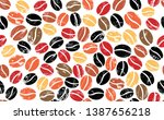 background wirh coffee beans.... | Shutterstock .eps vector #1387656218