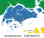 singapore map | Shutterstock .eps vector #138766472