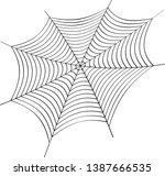 cobweb vector illustration.... | Shutterstock .eps vector #1387666535