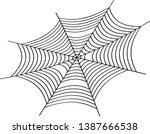cobweb vector illustration.... | Shutterstock .eps vector #1387666538