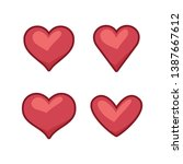 collection of heart...   Shutterstock .eps vector #1387667612