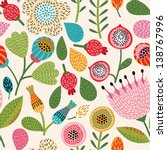 seamless floral pattern | Shutterstock .eps vector #138767996