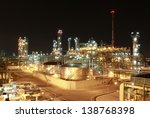 night scene of chemical plant   ... | Shutterstock . vector #138768398