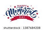 memorial day. remember and... | Shutterstock .eps vector #1387684208