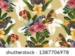 vintage beautiful and trendy...   Shutterstock . vector #1387706978