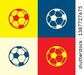 ball icon. yellow  blue and red ...