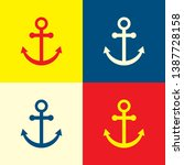 anchor icon. yellow  blue and...
