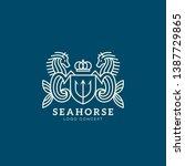 Seahorse Logo Design Template...