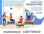 female executive having... | Shutterstock .eps vector #1387739642