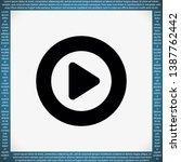 play  vector icon   lorem ipsum ...   Shutterstock .eps vector #1387762442