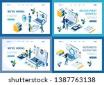 set of landing pages of the... | Shutterstock .eps vector #1387763138