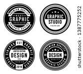 a vintage badge design set. | Shutterstock .eps vector #1387775252