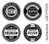 a vintage badge design set. | Shutterstock .eps vector #1387775255