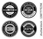 a vintage badge design set. | Shutterstock .eps vector #1387775258
