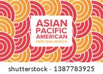 asian pacific american heritage ... | Shutterstock .eps vector #1387783925