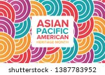asian pacific american heritage ... | Shutterstock .eps vector #1387783952