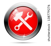 repair icon with white on red... | Shutterstock . vector #138779276