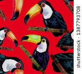 watercolor seamless pattern... | Shutterstock . vector #1387793708