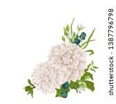 vector floral bouquet design ... | Shutterstock .eps vector #1387796798