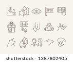 ipo icon set. trade  money ... | Shutterstock .eps vector #1387802405