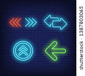 interface arrows and road neon... | Shutterstock .eps vector #1387803065