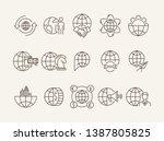 incorporation line icon set.... | Shutterstock .eps vector #1387805825