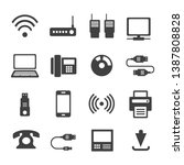 icons media communications. a... | Shutterstock .eps vector #1387808828