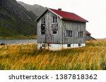 Old Damaged Wooden Norwegian...
