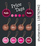 price tags set.vector. | Shutterstock .eps vector #138782942